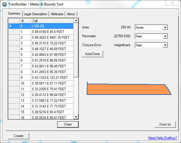 metes and bounds software free